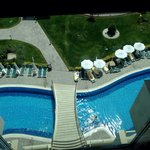 View of chill out pool from a lift