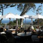 Outdoor dining overlooking the ocean