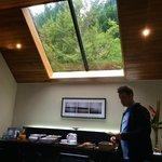 skylight in breakfast area