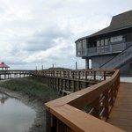 Pier, Gazebo and Restaurant