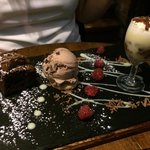 Trio of chocolate. My wife rated this very highly and she is a tough customer to please