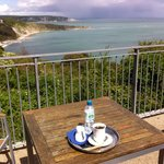 Coffee and view - Durlston Castle