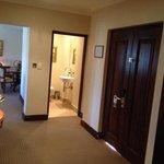 Entrance door, small bathroom, living room entrance