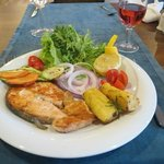 Fresh cooked salmon to order