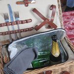 our champagne picnic