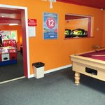 slots and pool table