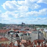 view from the top towards Prague Castle