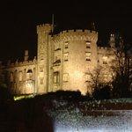 Kilkenny Castle at night.