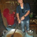 Notre guide Minh lors d'une visite au Delta du Mekong