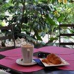 Solo visit coffee & croissant.