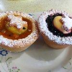 Fruit tarts - passionfruit & Boysenberry