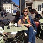 Enjoying the wine and sunshine