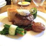 Fab main course - steak was done to perfection