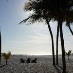 Strand vor dem outigger