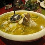 Fish and dumpling soup