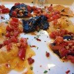 Tortelli con sogliola e pomodorini