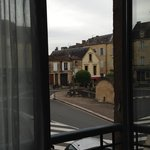 View from Room onto a square in Sarlat