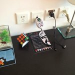 charger and other niceties in room