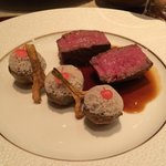 Beef and mushroom entree at Le Cuisine
