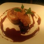 Slow roasted pork belly with broome farm cider jus and pear compot.