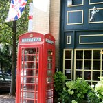 Phone Booth at Six Pence Pub