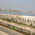 Vista do terraço do Hotel para a Baía de Luanda