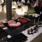 Wine tasting buffet at Gabi