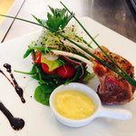 New Zealand lamb rack with ginger and lemon confit
