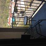 small balcony city view