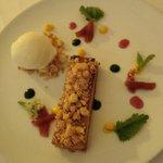 brown sugar rhubarb tart
