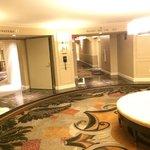 Guest floor elevator area