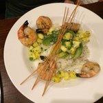 Grilled Shrimp w/ pineapple, cilantro,avacado