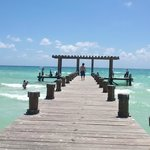 Take a walk to the right side of Gran Porto's beach for this dock