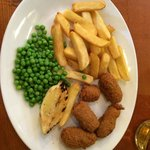 My amazing high quality, adult sized portion of scampi - NOT!! Yuk!!!!!