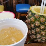 The margarita, pina colada and he even gave me a cup with the extra that wouldn't fit in the pin