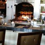 Wood burning grill / rotisserie.