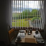view of Loch Ewe from dining room