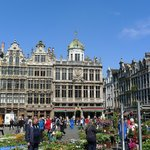 Grand Place,with flowers