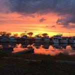 Sunset at Beach Creek Oyster Bar 5/17/2014