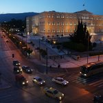 Syntagma at dawn from our room