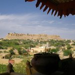 View of Jaisalmer Fort from the terrace of Hotel Fifu