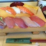静岡駅に入っている「沼津魚がし鮨」ランチ¥1,009