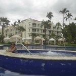 Na piscina do hotel!