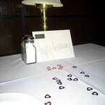 Decorated table for our anniversary