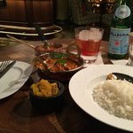 Curry at the hotel's bar