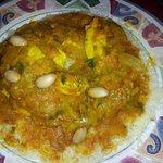Chicken Tfaya over Couscous