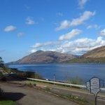 View of Loch Linnhe from the hotel