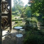 Looking out on the courtyard towards the garden.