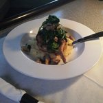 Bone-In Pork Chop with lobster mashed potatoes!