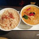 Prawn Masaman Curry with Garlic Rice
